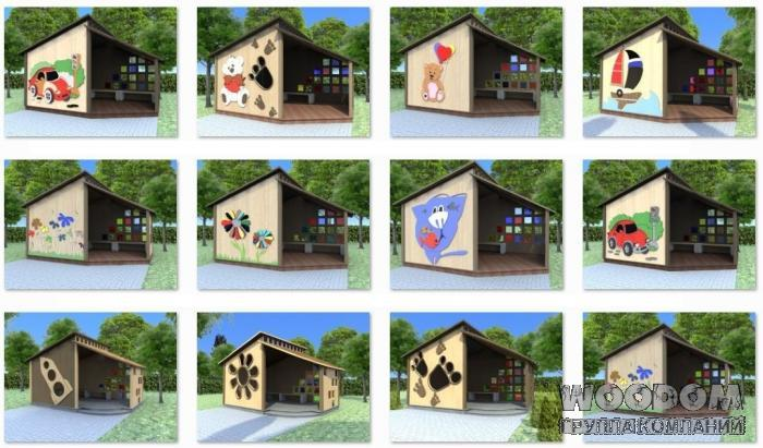 Оформление павильона в детском саду