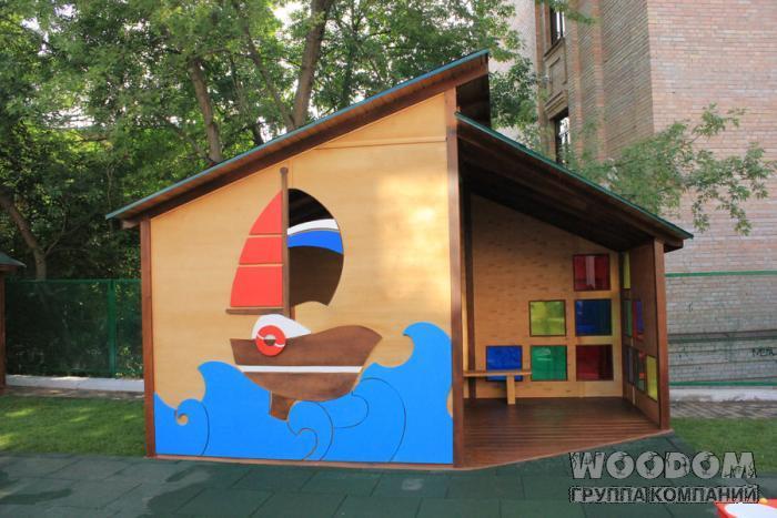 Как можно покрасить беседку в детском саду своими руками 51